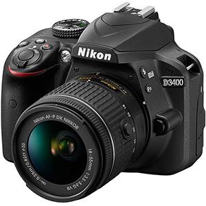 دوربین عکاسی dslr نیکون D3400 به همراه لنز 18-55 میلی متر VR