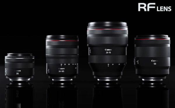 7 لنز RF جدید کانن