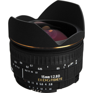 لنز سیگما 15MM F2.8 EX DG DIAGONAL FISHEYE
