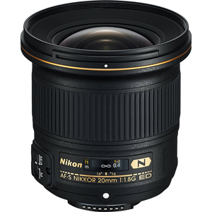 فروش لنز پرایم نیکون AF-S NIKKOR 20mm f/1.8G ED