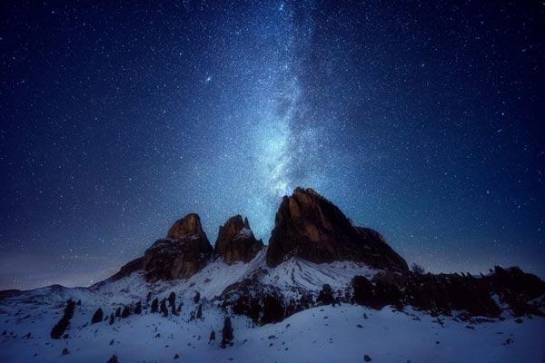 عکاسی نجومی در زمستان