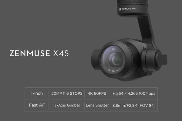 معرفی دوربین zenmuse x4s