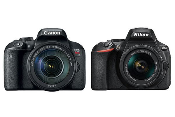 مقایسه دوربین کانن 800D و نیکون D5600