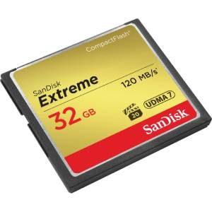 فروش کارت حافظه دوربین سن دیسک CF Extreme 32GB / 120 MB/s