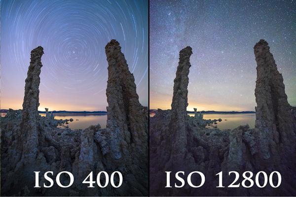 مقایسه ی ISO در چشم انسان و دوربین