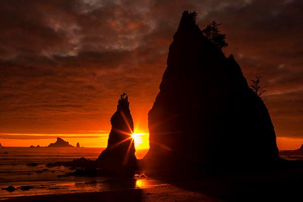منبع نور افکت ستاره ای در عکاسی