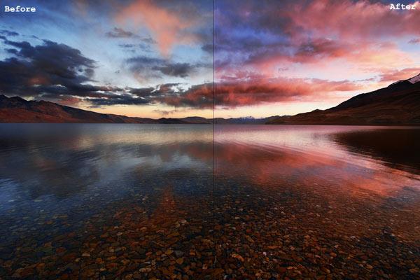 تغییرات عکس های ادیت شده با Undertlying