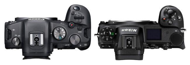 مقایسه ارگونومی دوربین کانن EOS R6 و نیکون Z6