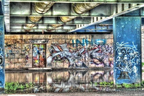 نقاشی های گرافیتی در عکاسی به صورت HDR