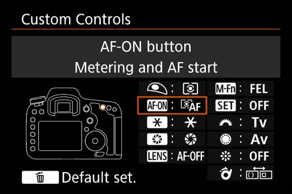راه اندازی فوکوس پشتی در دوربین های کانن