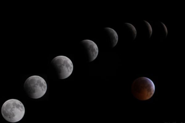 عکاسی پی در پی از ماه گرفتگی