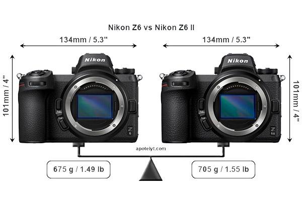 مقایسه سخت افزار دوربین نیکون Z6 و Z6 II