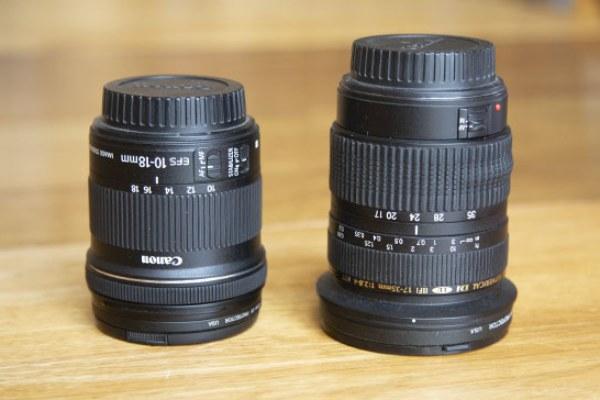 مقایسه لنز دوربین های کنون EF و EF-S