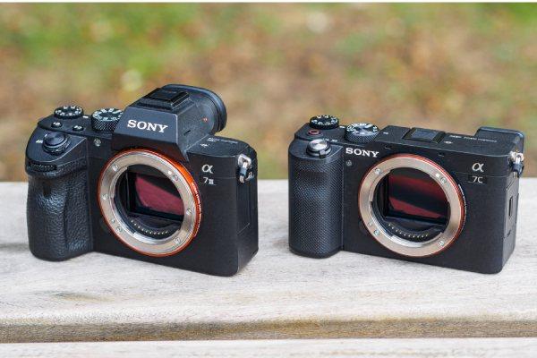 مقایسه ابعاد دوربین های سونی A7c و A7iii