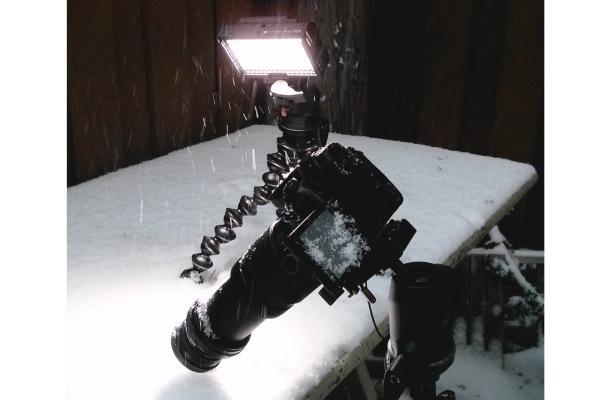 تجهیزات عکاسی از دانه های برف