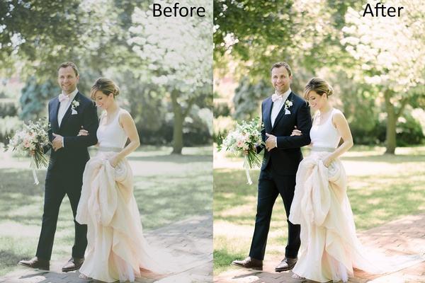 ادیت و ویرایش عکس های عروسی