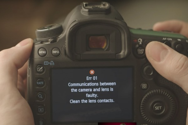 کد خطا های دوربین کانن