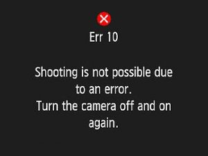 Err 10 ( اختلال فایل)