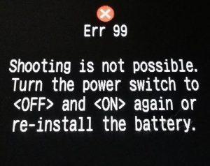 Error 99 (پیغام خطای عمومی و غیر مشخص)