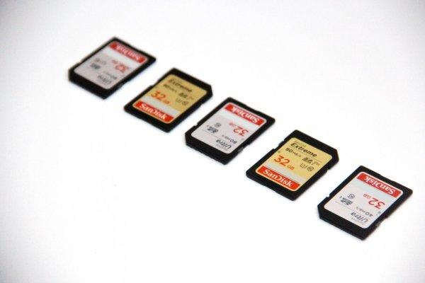 انواع کارت حافظه دوربین عکاسی و فیلمبرداری