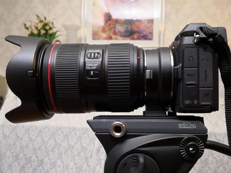 لنز کانن روی دوربین های DSLR نیکون