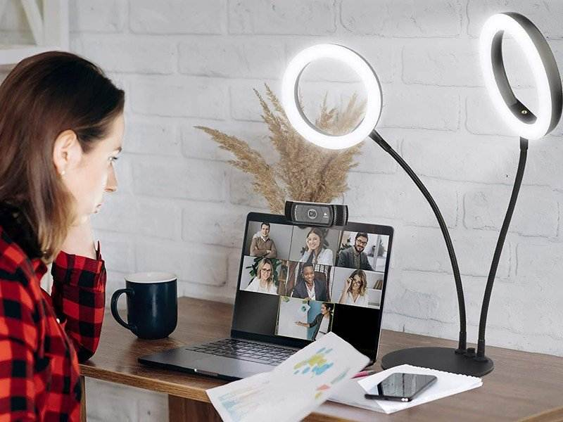راهنمای کامل انتخاب و خرید رینگ لایت رومیزی